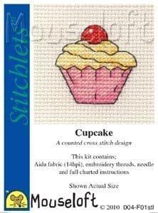 Mouseloft Cupcake Stitchlets cross stitch kit